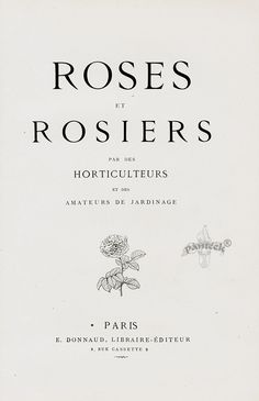 1884 Roses et Rosiers Antique Roses