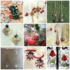 In this collection of 31 DIY Christmas Earrings, you'll find a pair of DIY earrings for every day in December! From candy canes to Santa Claus, from snowflakes to fir trees, these DIY earrings include every classic Christmas icon imaginable. Whether you make them for yourself or your loved ones, these DIY Christmas earrings are sure to bring a lot of festive and fashionable fun to your holiday season!| AllFreeJewelryMaking.com
