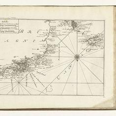Kaart van de westkust van Bretagne, 1726, anonymous, 1726 - Rijksmuseum