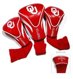 University of Oklahoma Sooners Contour Gollf Club HeadCover - 3 Pack