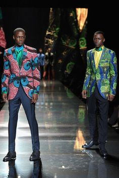 Men's fashion using African fabrics. -by Ozwald Boateng African Fashion Designers, African Inspired Fashion, African Print Fashion, Africa Fashion, African Prints, Fashion Prints, Ankara Fashion, Ethnic Fashion, African Clothing For Men
