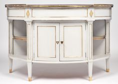 Antique French Directoire Marble-Top Demilune Sideboard - Jean ...