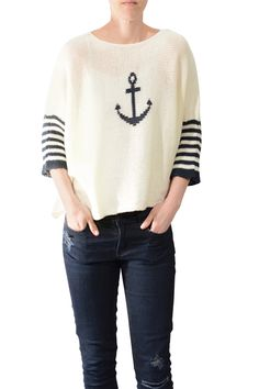 Wooden Ships Anchor Sweater | sweaters | www.lynevans.com/1540-4661/sweaters/clothing_sweaters/wooden-ships-anchor-sweater-.aspx