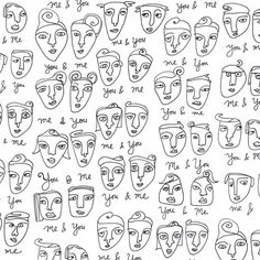 Faces for day 11 of #100daysofpatterns #the100dayproject 🗿 #surfacepattern #patterns #faces #patterndesign #patternobserver #youandme #artlicensing #sketchbook #scribbles I added this pattern to some baby gear in my zazzle shop :: zazzle.com/shoshannahscribbles
