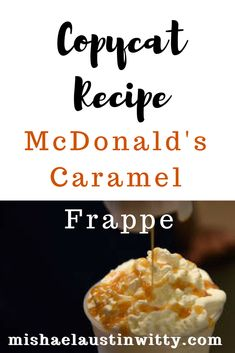 mcdonald's frappe - Best of Why Wellness Now and Blue Brown Books - Caramel Frappe Recipe Mcdonalds, Mcdonalds Caramel Frappe, Caramel Frappe Recipe, Mcdonalds Recipes, Caramel Frappuccino, Starbucks Caramel, Homemade Frappuccino, Mcdonald's Frappe Recipe, Mcdonalds Hot Chocolate Recipe