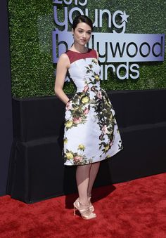 Crystal Reed. Carolina Herrera