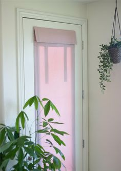 Who wants blinds, or Roman shades on your french door? Fast and easy installation with no hardware needed. No holes. No cords. We're loving this new Dusty Rose fabric!