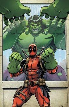 Deadpool vs Hulk by Dan Khanna Marvel Dc, Marvel Comics, Marvel Heroes, Cosmic Comics, Captain Marvel, Deadpool Art, Deadpool Funny, Alex Ross, Comic Books Art