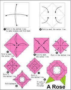 Como hacer una rosa de papel realizando manualidades para niños