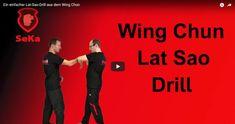 In diesem Video zeige ich einen einfachen Lat Sao Drill aus dem Wing Chun. Genauer gesagt drückt mich mein Trainingspartner in den Bong Sao und ich kontere.