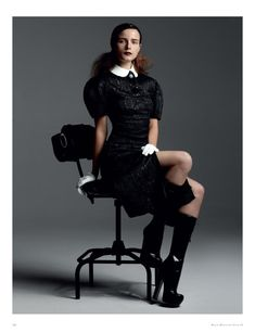 Anna de Rijk by Paul Empson in Louis Vuitton F/W 2012/13 for Black Magazine