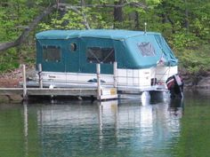 pontoon boat tent...omg I'm so getting one for mine!