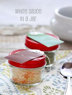 Pasta Sauces in a Jar. White sauce, Spicy Sriracha, Chipotle, Ranch, Mac 'n' Cheese and more. Vegan Glutenfree recipe