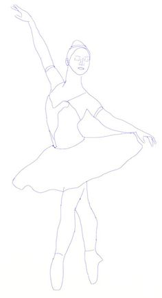 How to Draw a Ballerina, step 5