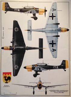 Aircraft Nut: Back to the Ju 87 Stuka: Part Variants: Production models Ww2 Aircraft, Fighter Aircraft, Aircraft Carrier, Military Aircraft, Fighter Jets, Luftwaffe, Focke Wulf, Scale Models, Aircraft Painting