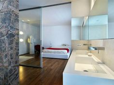 modern bedroom with ensuite