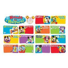 Amazon.com: Eureka Mickey Mouse Clubhouse Handy Helpers Job Chart Mini Bulletin Board Set: Toys & Games
