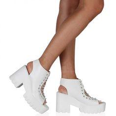 5932cccebdc Sophia Platform Sandals in White