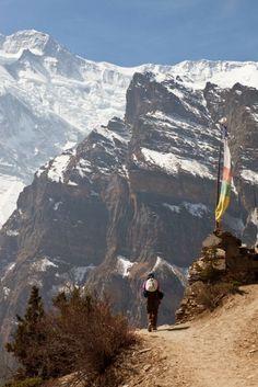 High route trail near Ghyaru, Nepal