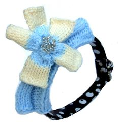 Stunning knitted flower collar covers, transform a plain collar with this beautiful cover, can extend the collars life