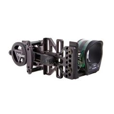 AccuPin Bow Sight - Green Reticle, Right Hand, Black