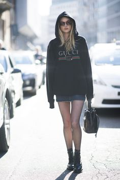 3fa256efad8743 How to Wear a Hoodie If You Want to Look Like a Street Style Darling