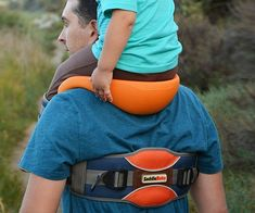 Survive a day at the amusement park without killing your back from carrying junior everywhere with the baby saddle shoulder strap system. This supporting system provides a comfortable spot for your offspring to relax and enjoy the view while your hands remain free.