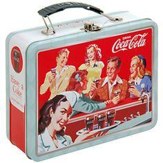 Coke Embossed Large Lunch Box  'Drink Coke'