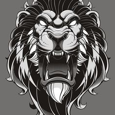 Finished lion illustration. Part of a merch piece but I like seeing the work stand on its own. #lion #vector #predator #illustration #sweyda