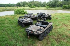Camo Argo Amphibious Vehicles