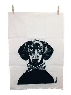 Ręcznik kuchenny Tillsammans Hugo black - MIA home passion