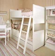 10 bunk beds for girls--I just want the cute scallopy stuff!!