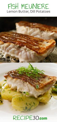FISH MEUNIERE With Spring Onion and Dill Potatoes