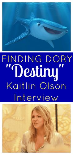 Kaitlin Olson Interview | behind-the-scenes of Finding Dory with the voice of Destiny, the whale shark, Disney Pixar movie