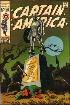 Captain America (vol.1) #113 by Jim Steranko Jim Steranko masterpiece of 60s PopArt One of many great covers for Marvel.