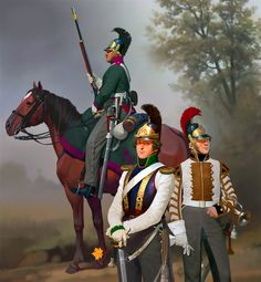 Russian dragoons and cuirassiers