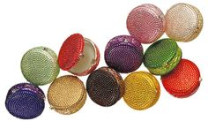 Judith Leiber's delectable Macaron Collection of pillboxes.