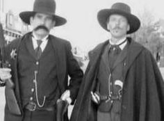 The Real Wyatt Earp & Doc Holliday - gun history - American history. So great that they look so much like the Val Kilmer and Kurt Russel characters in Tombstone.