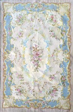 The Aubusson design is a classic French one what works well in feminine or formal spaces. Usually in pastels, they are elegant & understated.