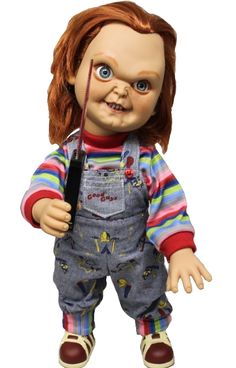Chucky doll Childs play with sound Haloween Mask, Horror Masks, Scary Mask, Doll Stands, Chucky, A Good Man, Kids Playing, Little Ones, Dolls