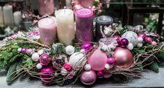 Guirnaldas y arreglos - Flower Garden Cologne - Saigenq Christmas Centerpieces, Wedding Centerpieces, Christmas Decorations, Holiday Decor, Manta Polar, Christmas Wreaths, Xmas, Diy Weihnachten, Floral Arrangements