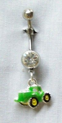 Tractor belly button ring its kinda blurry but I think it still looks cute