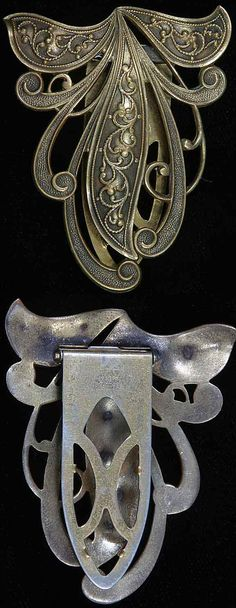 Joseff of Hollywood Art Nouveau Style Dress Clip