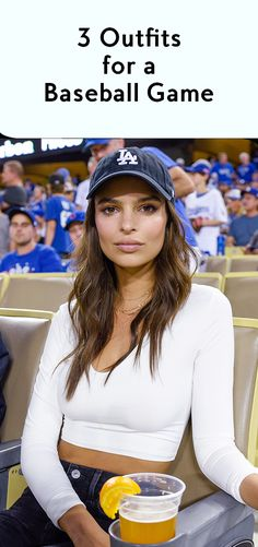 Emily Ratajkowski smooches boyfriend Jeff Magid at LA Dodgers game Dodgers Outfit, Dodgers Girl, Baseball Game Outfits, Baseball Cap Outfit, Outfits With Hats, Cute Outfits, Game Day Outfits, Games Outfits, Cap Outfits For Women