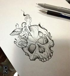 What to Expect When You Get Your Tattoo - Hot Tattoo Designs Unique Drawings, Dark Art Drawings, Pencil Art Drawings, Art Drawings Sketches, Tattoo Sketches, Tattoo Drawings, Gothic Drawings, Skull Drawings, Tattoo Ink