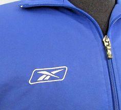 Reebok Jogging Running Track Sweat Pants & Jacket Size Small Blue & White