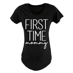 First Time Mommy Womens Maternity Tee #maternityshirts #maternity
