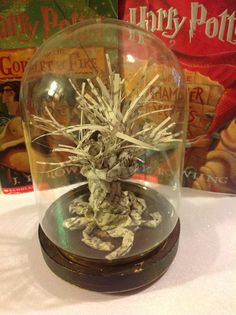 Harry Potter Whomping Willow Made From Real Book Pages from authorish on Etsy
