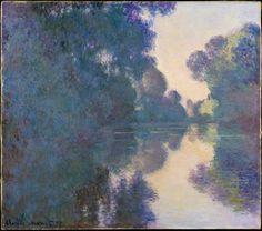 Le Prince Lointain: Claude Monet (1840-1926), Matin sur la Seine près ...