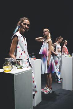 Min Wu SS16 London Fashion Week presentation at ICA Photo by Humothy